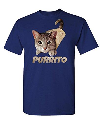 - Purrito - cat Burrito Funny Joke Meme Kitty - Mens Cotton T-Shirt, 3XL, (Cotton Kitty Collar)