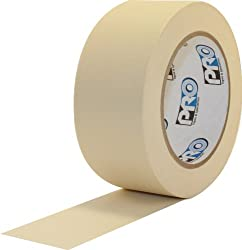"Protapes Pro 795 Crepe Paper General Purpose Masking Tape, 60 Yds Length X 1"" Width, Tan (Pack Of 1)"