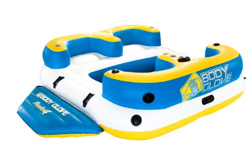 Float Glove (Body Glove Inflatable Party Island, Paradise 4 Aqua Lounge Float, Waterproof Speaker and Lake Anchor System)