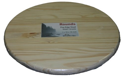 Edge Glued Pine Rounds - Round Top Unfinished