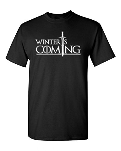 Winter Is Coming DT Adult T-Shirt Tee (Large, Black)