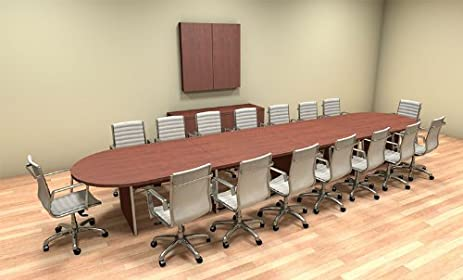 Amazoncom Modern Racetrack Feet Conference Table CHAMBC - 18 foot conference table