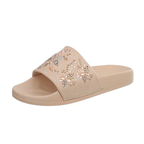 Vestir 1 Sandalias de Mujer Zapatos Design Zuecos Beige Para Plano Ital 883 gxwHF1qT