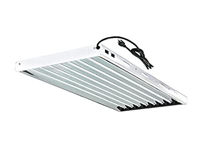 Grow Co. T5 Fluorescent Fixture 6500K HO Bulbs Included for Hydroponic Indoor Gardening