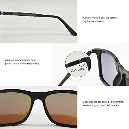 Sol de Mujer Wayfarer UV Espejos Polarizadas para Caminante Reflejantes 400 AMZTM Azul Hombre Ultraligero Moda Gafas Gafas Protección de wEq5YnR