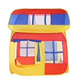 Sviper Kids Play Tunnels Kids Play Tent House Type Children Indoor Playhouse Toys Room Foldable Pop Up Tunnel Gift Toy