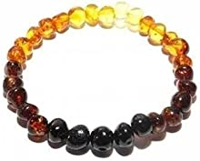 Love Amber X Adult Rainbow Bright Mixed Baltic Amber Stretch Bracelet UK Based
