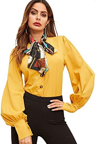 SheIn Womens Lantern Sleeve Blouses product image