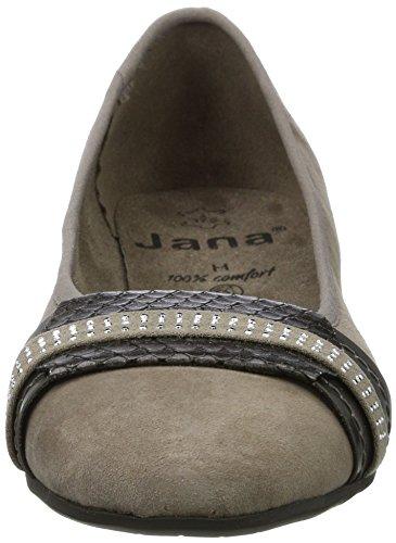 Jana 22100, Bailarinas Para Mujer Beige (Taupe)