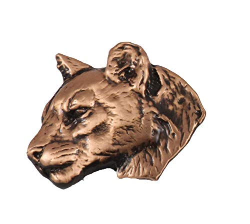 Creative Pewter Designs Cougar Mountain Lion Head Mammal Copper Plated Lapel Pin, Brooch, Jewelry, MC047