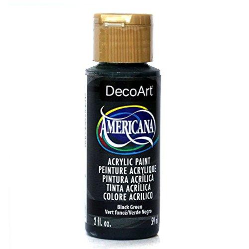 DecoArt Americana Acrylic Paint, 2-Ounce, Black Green