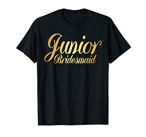 Junior Bridesmaid Gold Tshirt Kids Wedding Bachelor Party