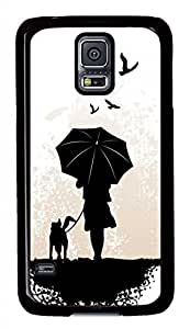 Cartoon Character Silhouettes PC Black Hard Case Cover Skin For Samsung Galaxy S5 I9600