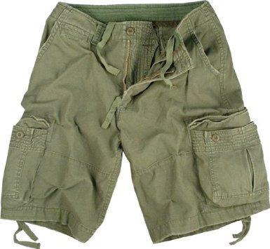 New Womens Long Shorts (Olive Drab Infantry Vintage Military Cargo Utility Shorts, Large)