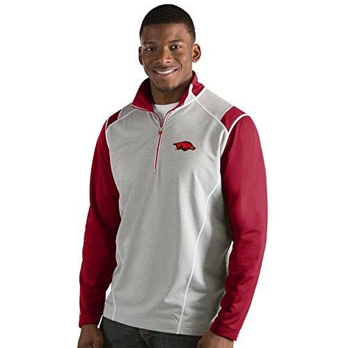 University of Arkansas Men's Automatic Half Zip Pullover (Large)