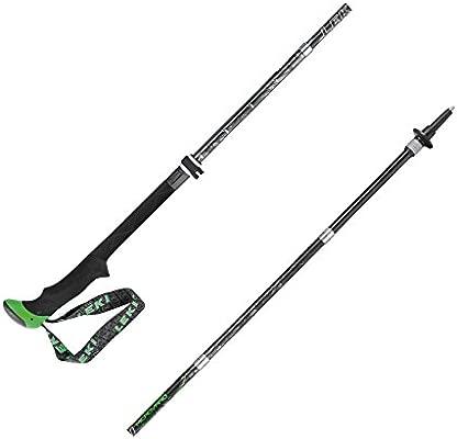 Leki Micro Vario Carbon Antishock Pair Walking Poles Black Green