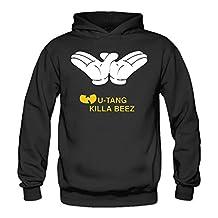 LOZADOO Wu-Tang Clan Band Killa Beez Women's Hooded Sweatshirt