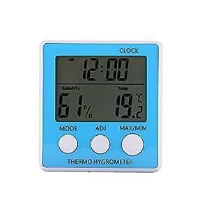 La Home High Precision Indoor electrónica termómetro higrómetro con reloj despertador