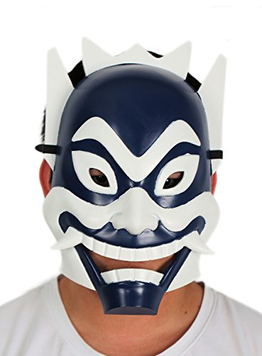 Avatar The Last Airbender Halloween Costumes For Adults - Zukos Blue Spirit Mask Deluxe Adult Cosplay Blue White Mask Xcoser