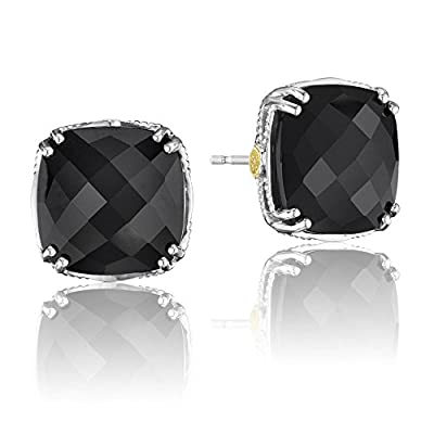 Discount Tacori SE12919 Classic Rock Bold Cushion Cut Black Onyx Stud Earrings