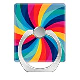 Pop Phone Ring Stand Holder 360°Rotation Reusable Ring Holder Finger Grip Universal socket Kickstand for All Cellphones Colorful Rainbow Swirl