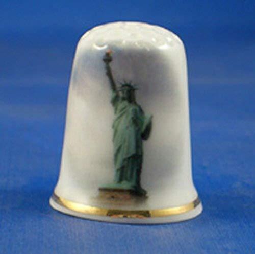 Porcellana China-Ditale da collezione statua della libert/à
