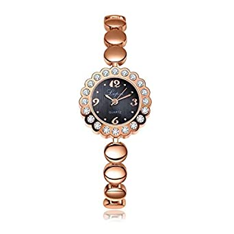 DressLksnf_Reloj Moda para Mujer Pulsera del Reloj Metal Durable ...