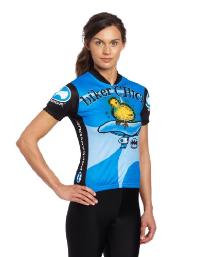 a9bf32cac Amazon.com   World Jerseys Women s Biker Chick Cycling Jersey   Women S Biking  Apparel   Clothing