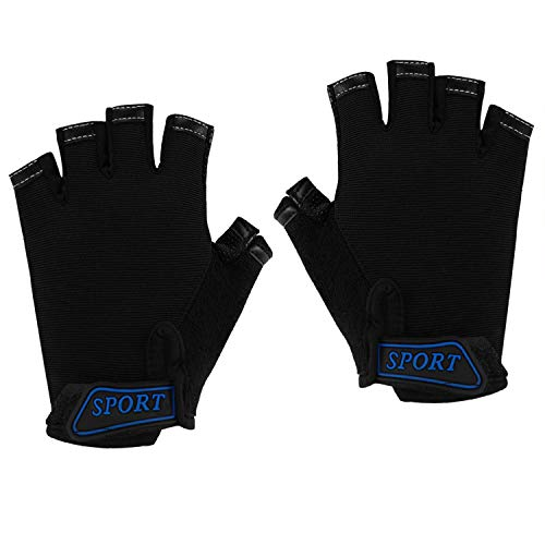 IPENNY Girls Boys Half Finger Cycling Gloves Sport Gym Gloves Racing Mitts Non-Slip Gel Short Finger Breathable Summer Gloves Mountain Road Bike Riding Bicycle Running Gloves