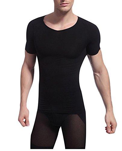 大学院エンドテーブル横向きAmazingベーシック 半袖 コンプレッションウェア 吸汗速乾 加圧シャツ スポーツインナー  抜群の伸縮性 姿勢矯正 補正下着 スポーティー