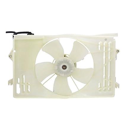 DealMux radiador / condensador de refrigeração Assembléia Fan para Toyota Corolla Matrix / Pontiac Vibe 03
