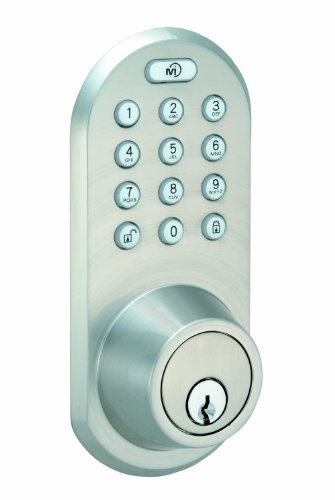 MORNING INDUSTRY QF-01SN 3-In-1 Remote Control & Touchpad Dead Bolt (Satin Nickel/Black) Morning Industry