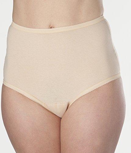 Women's Beige Cotton Comfort Incontinence Washable Reusab...