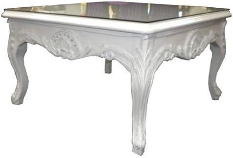 Table Basse De Style Baroque Blanc Amazon Fr Cuisine Maison