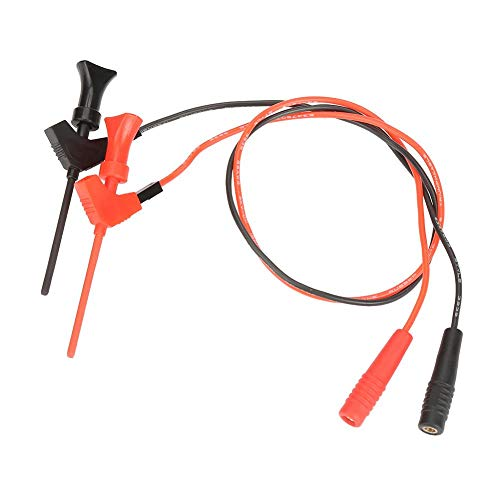 Banana Plugs, 2Pcs Black Red Banana Plug Socket Test Leads Test Clip Hook Set 2Mm P1511B Connection for High Stability and Good Performance (Wbt Banana)