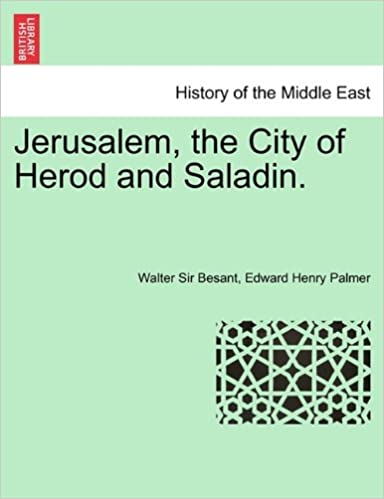 Book Jerusalem, the City of Herod and Saladin. New Edition