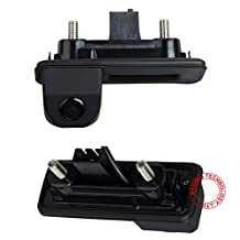 Navinio Waterproof 170 ° reversible vehicle-specific camera integrated into case handle rear view reversing camera for VW Skoda Roomster Superb Cambi Yeti Fabia Octavia II 1Z 2Audi A1 car