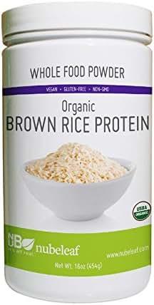 Nubeleaf Brown Rice Protein 80% Powder 16 Ounce Jar