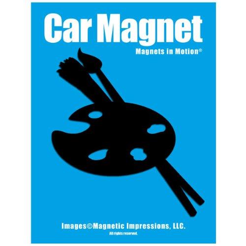 Artist Palette Car Magnet Black (Magnet Palette Artists)