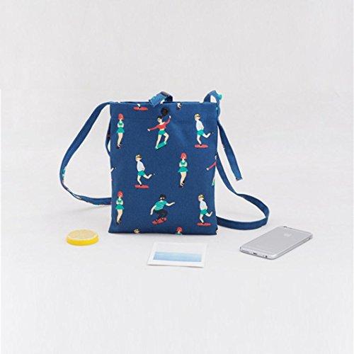 Sac Mesh Sac Mode shopping Filles bandoulière Casual plage épaule ESAILQ Bleu Sac mignon Shopper de wfBqFgA