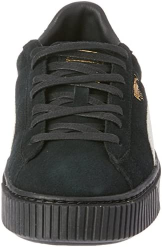 reputable site 9f012 65706 PUMA Women's SUEDE PLATFORM FL Black- White-Gold 5.5: Amazon ...