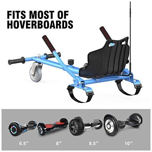 CITYSPORTS Hoverkart pour Hoverboard, Longueur Réglable, Rend Votre Hoverboard Plus en Sécurité, Karting Idéal pour Les Enfants (Bleu)