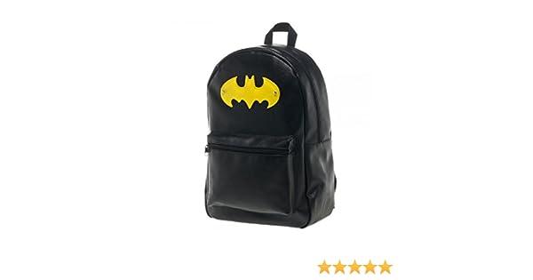 4e395177d87 Amazon.com  Batman Acrylic Logo Faux Leather Backpack  Apparel   Clothing