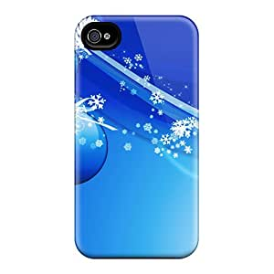 Best Hard Cell-phone Cases For Apple Iphone 4/4s With Custom Fashion Xmas Christmas Image AshleySimms