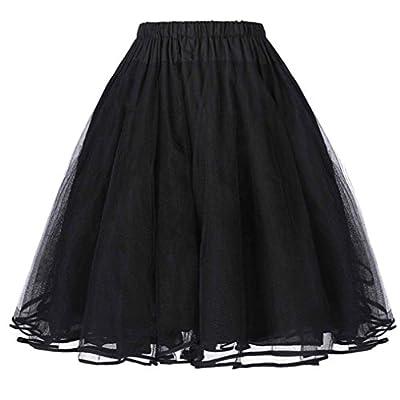 Fashionable 50s Vintage Women Tutu Skirt Mini Retro Rockabilly Swing Dress Princess