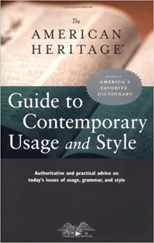 The american heritage guide to contemporary usage and style the american heritage guide to contemporary usage and style fandeluxe Images
