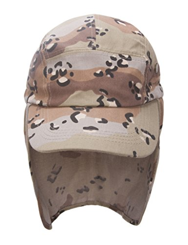TOP HEADWEAR TopHeadwear Vacation Flap Hat w/Full Neck Cover - Cheetah ()