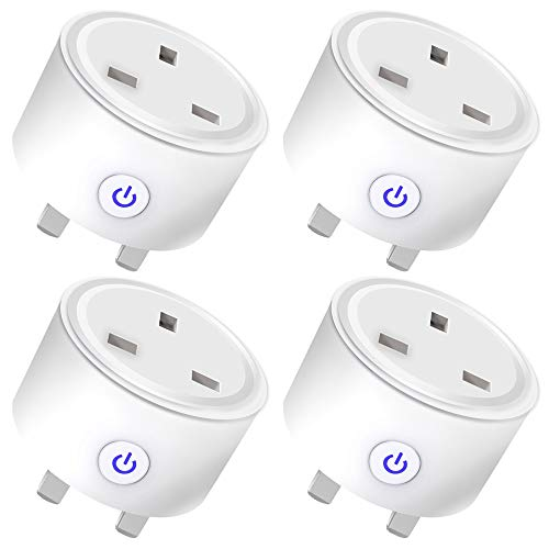 4 Pack Smart Plug, WiFi Plugs Socket Work with Amazon Alexa, Google Home, Wireless Outlets with Remote Control Timer…