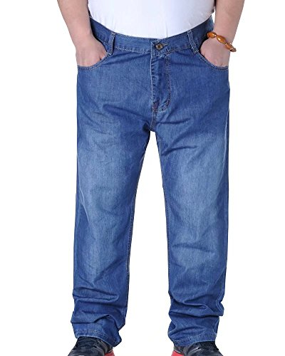 Wxian Men's Straight-Leg Big & Tall Classic Relaxed-Fit Jean 550 Relaxed Fit Jean Shorts