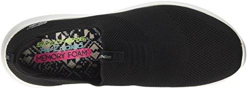 Skechers Donna Ultra Flex-first Prendere Sneaker Nero / Bianco